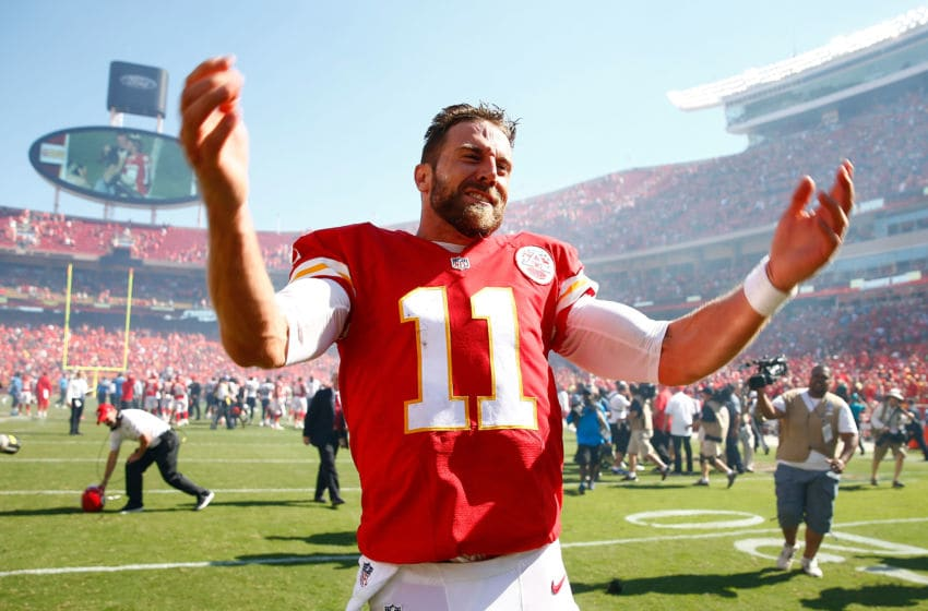 Fantasy Football sleeper Alex Smith. (Photo by Jamie Squire/Getty Images)