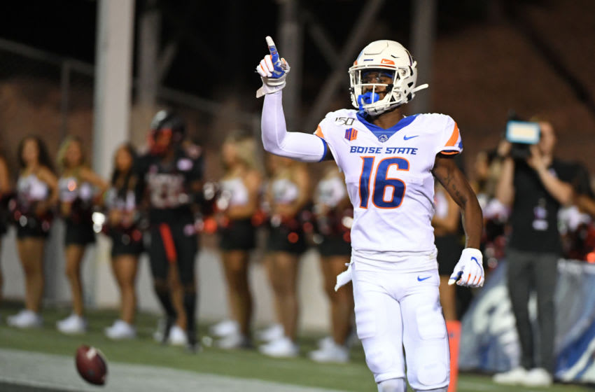Wide receiver John Hightower #16 of the Boise State Broncos (Photo by Ethan Miller/Getty Images)