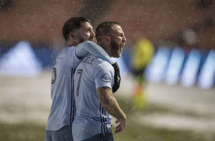 Ilie Sanchez, Johnny Russell, Sporting KC (Photo by Chris Gardner/Getty Images)