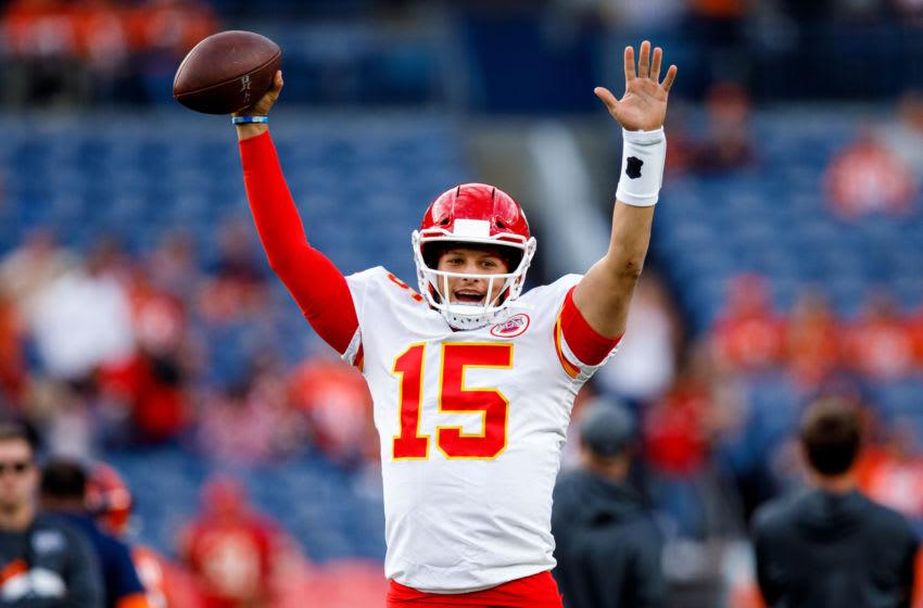 quarterback Patrick Mahomes #15 of the Kansas City Chiefs - (Photo by Justin Edmonds/Getty Images)