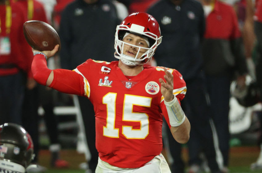 Patrick Mahomes #15 of the Kansas City Chiefs l (Photo by Patrick Smith/Getty Images)
