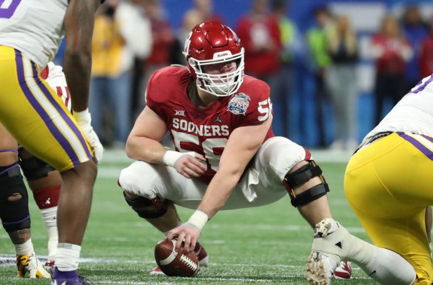 Oklahoma Sooners center Creed Humphrey (56) -Mandatory Credit: Jason Getz-USA TODAY Sports