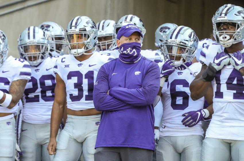 Kansas State Wildcats head coach Chris Klieman- Mandatory Credit: Ben Queen-USA TODAY Sports