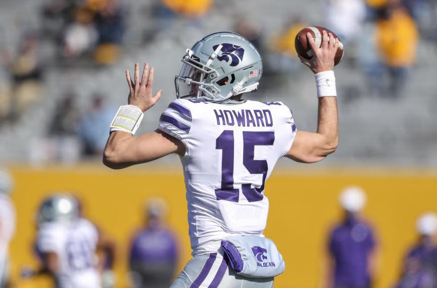 Kansas State Wildcats quarterback Will Howard (15) - Mandatory Credit: Ben Queen-USA TODAY Sports
