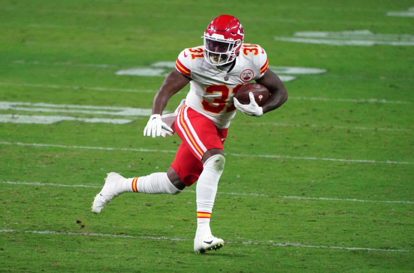 Kansas City Chiefs running back Darrel Williams (31) -Mandatory Credit: Kirby Lee-USA TODAY Sports