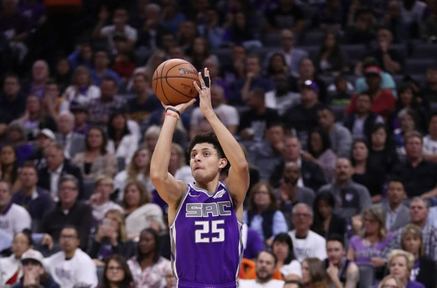 SACRAMENTO, CA - OCTOBER 17: Justin Jackson #25 of the Sacramento Kings in action against the Utah Jazz at Golden 1 Center on October 17, 2018 in Sacramento, California. NOTE TO USER: User expressly acknowledges and agrees that, by downloading and or using this photograph, User is consenting to the terms and conditions of the Getty Images License Agreement. (Photo by Ezra Shaw/Getty Images)