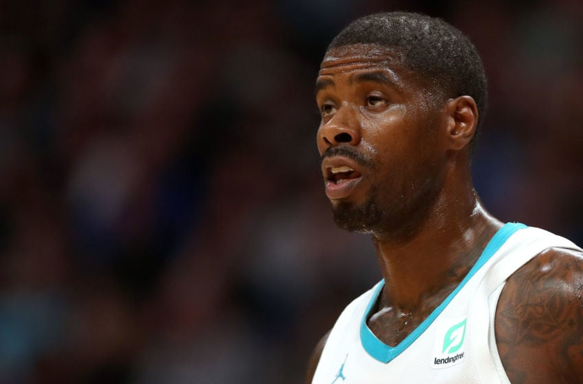 DENVER, COLORADO - JANUARY 5: Marvin Williams #2 of the Charlotte Hornets plays the Denver Nuggets in the first quarter at the Pepsi Center on January 5, 2019 in Denver, Colorado. NOTE TO USER: User expressly acknowledges and agrees that, by downloading and or using this photograph, User is consenting to the terms and conditions of the Getty Images License Agreement. (Photo by Matthew Stockman/Getty Images)