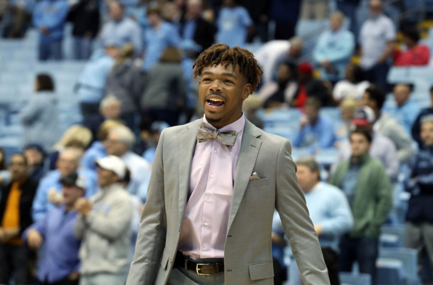 CHAPEL HILL, NC - NOVEMBER 01: Anthony Harris #0 of the University of North Carolina during a game between Winston-Salem State University and University of North Carolina at Dean E. Smith Center on November 1, 2019 in Chapel Hill, North Carolina. (Photo by Andy Mead/ISI Photos/Getty Images)