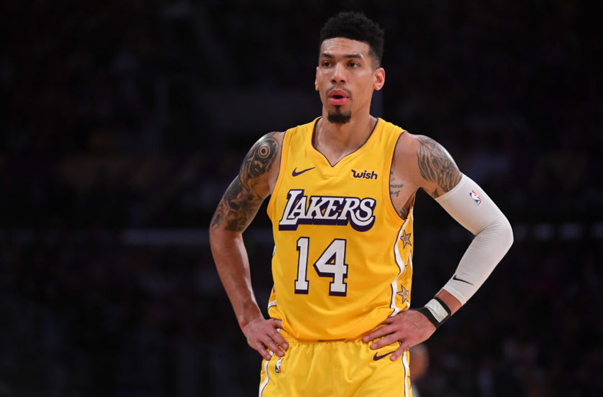 LOS ANGELES, CA - DECEMBER 25: Danny Green #14 of the Los Angeles Lakers looks on from the court in the game against the Los Angeles Clippers at Staples Center on December 25, 2019 in Los Angeles, California. NOTE TO USER: User expressly acknowledges and agrees that, by downloading and/or using this Photograph, user is consenting to the terms and conditions of the Getty Images License Agreement. (Photo by Jayne Kamin-Oncea/Getty Images)