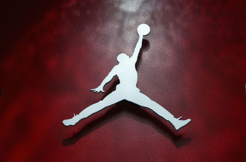 DENVER - FEBRUARY 18: The Air Jordan logo at the Air Jordan XX Launch Party at Rise Nightclub on February 18, 2005 in Denver, Colorado. (Photo by Christian Petersen/Getty Images)