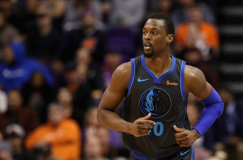PHOENIX, ARIZONA - DECEMBER 13: Harrison Barnes #40 of the Dallas Mavericks during the NBA game against the Phoenix Suns at Talking Stick Resort Arena on December 13, 2018 in Phoenix, Arizona. The Suns defeated the Mavericks 99-89. NOTE TO USER: User expressly acknowledges and agrees that, by downloading and or using this photograph, User is consenting to the terms and conditions of the Getty Images License Agreement. (Photo by Christian Petersen/Getty Images)