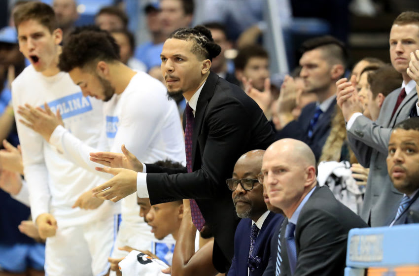 CHAPEL HILL, NORTH CAROLINA - DECEMBER 30: Cole Anthony #2 of the North Carolina Tar Heels watches from the bench against the Yale Bulldogs at Dean Smith Center on December 30, 2019 in Chapel Hill, North Carolina. (Photo by Streeter Lecka/Getty Images)