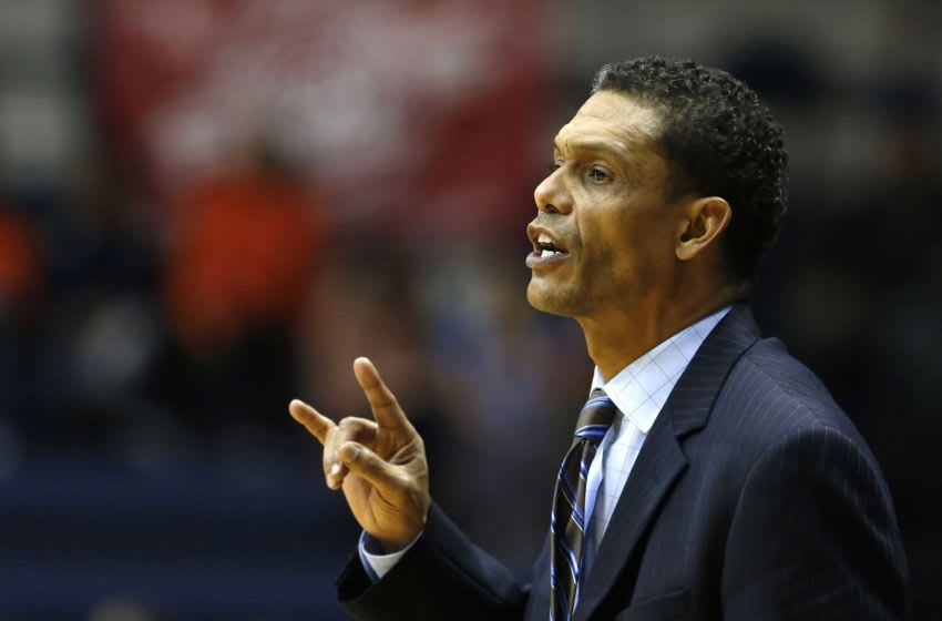 Monmouth head coach King Rice enters his ninth season on the Hawks' bench. Asb 1128 Monmouth Basketball