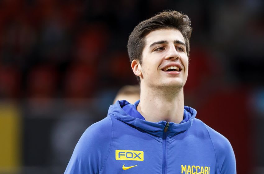 Deni Avdija of Maccabi Fox Tel Aviv looks on. (Photo by TF-Images/Getty Images)