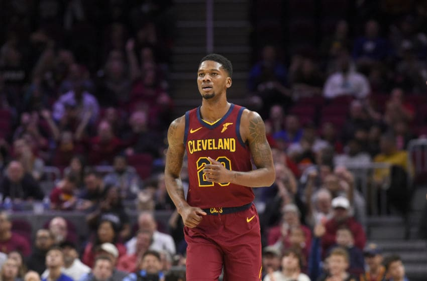 Cleveland Cavaliers forward Alfonzo McKinnie runs down the floor. (Photo by Jason Miller/Getty Images)