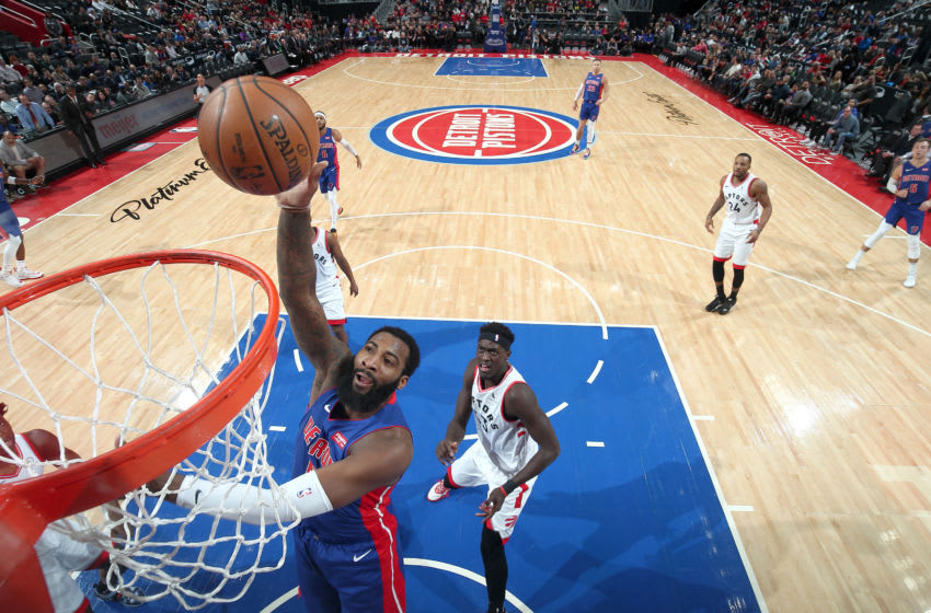 Former Detroit Pistons big man Andre Drummond dunks the ball. (Photo by Brian Sevald/NBAE via Getty Images)