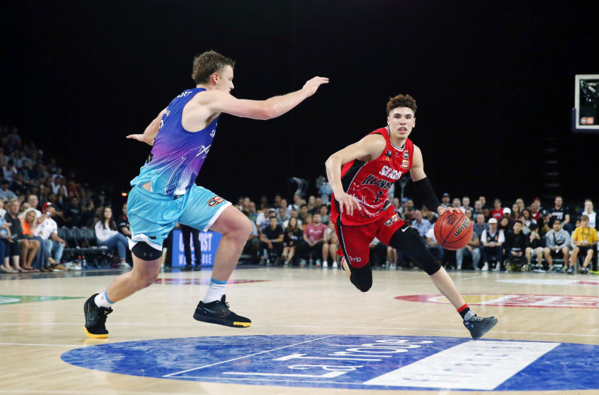 LaMelo Ball of the NBL's Illawarra Hawks drives. (Photo by Anthony Au-Yeung/Getty Images)
