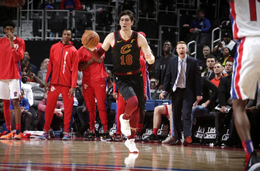 Cleveland Cavaliers wing Cedi Osman brings the ball up the floor. (Photo by Brian Sevald/NBAE via Getty Images)