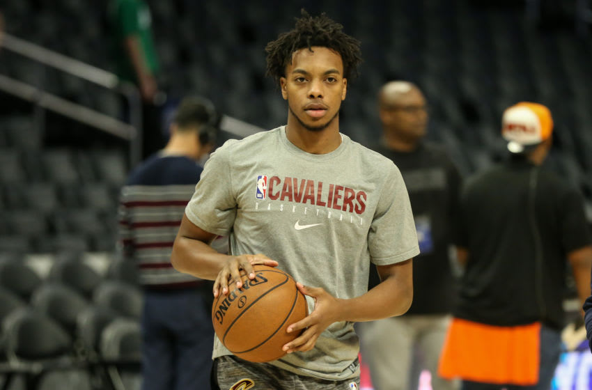 Cleveland Cavaliers guard Darius Garland looks on. (Photo by Jevone Moore/Icon Sportswire via Getty Images)
