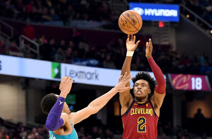 Cleveland Cavaliers guard Collin Sexton shoots the ball. (Photo by Jason Miller/Getty Images)