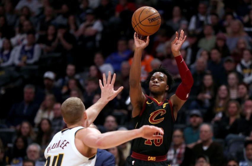 Cleveland Cavaliers guard Darius Garland shoots the ball. (Photo by Matthew Stockman/Getty Images)