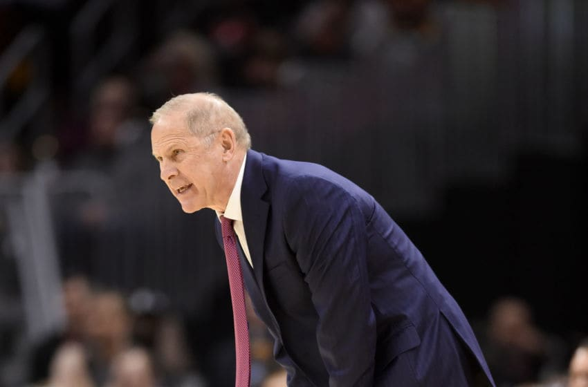 Cleveland Cavaliers head coach John Beilein yells to his players in-game. (Photo by Jason Miller/Getty Images)