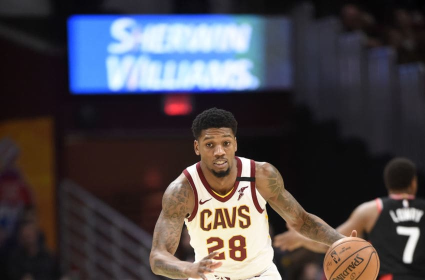 Cleveland Cavaliers wing Alfonzo McKinnie handles the ball. (Photo by Jason Miller/Getty Images)