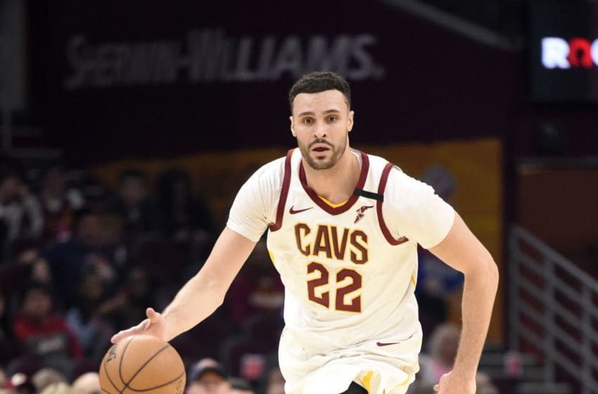 Cleveland Cavaliers big man Larry Nance Jr. brings the ball up the floor. (Photo by Jason Miller/Getty Images)