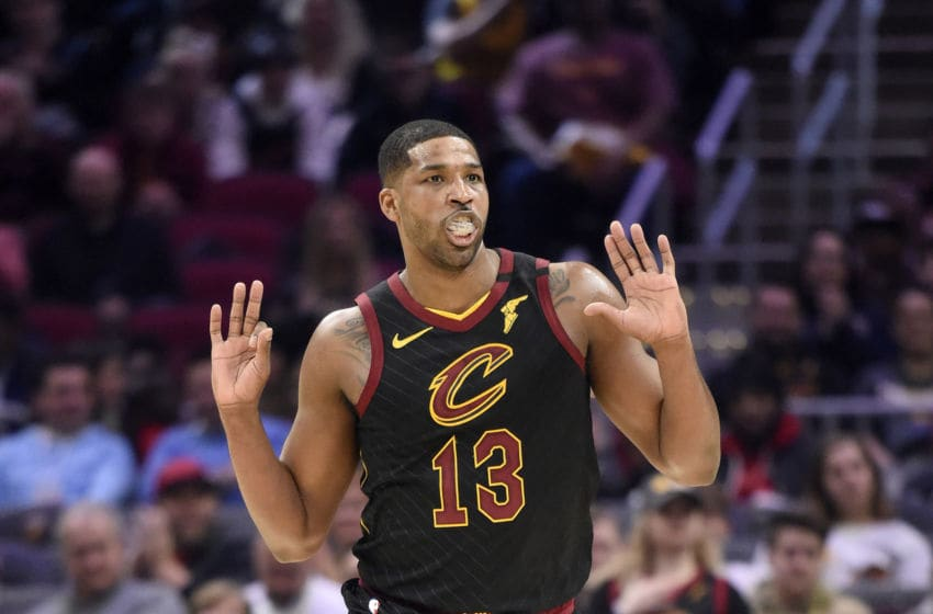 Cleveland Cavaliers big man Tristan Thompson celebrates in-game. (Photo by Jason Miller/Getty Images)