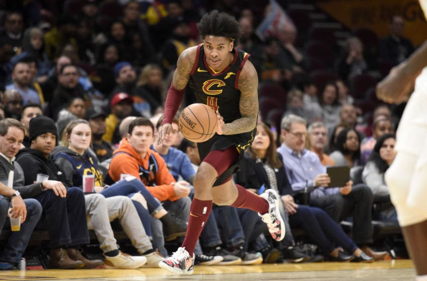 Cleveland Cavaliers wing Kevin Porter Jr. brings the ball up the floor. (Photo by Jason Miller/Getty Images)