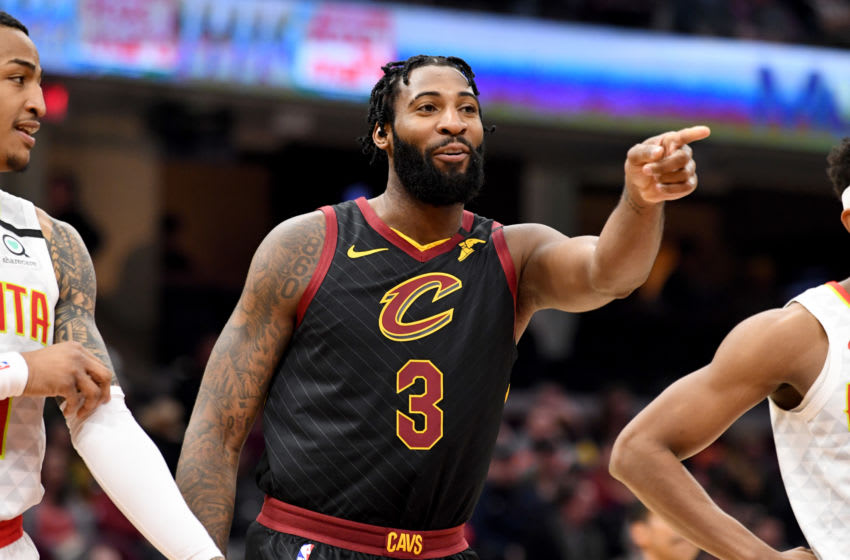 Cleveland Cavaliers big man Andre Drummond reacts in-game. (Photo by Jason Miller/Getty Images)