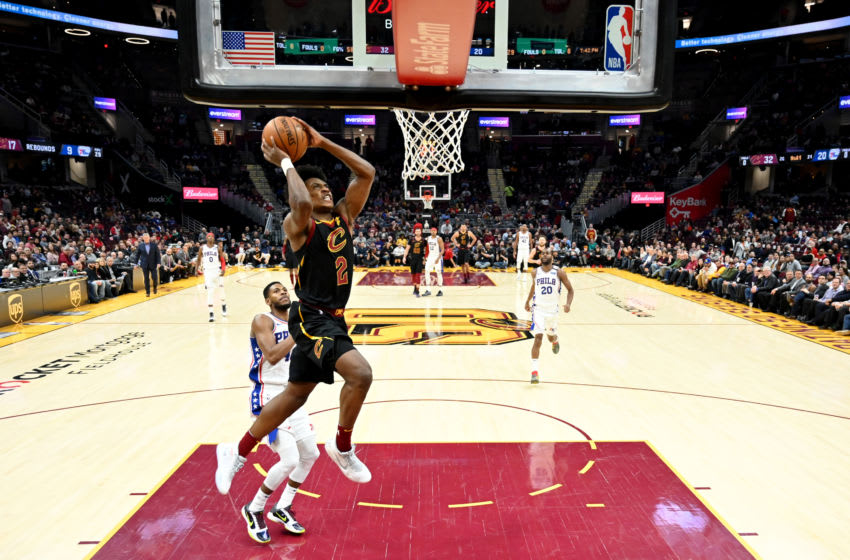 Cleveland Cavaliers guard Collin Sexton dunks the ball. (Photo by Jason Miller/Getty Images)