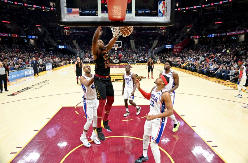 Cleveland Cavaliers center Tristan Thompson dunks the ball. (Photo by Jason Miller/Getty Images)