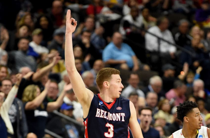 Belmont Bruins wing Dylan Windler celebrates in-game. (Photo by G Fiume/Maryland Terrapins/Getty Images)