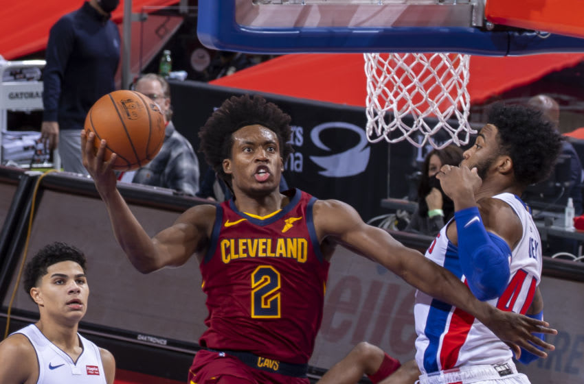 Cleveland Cavaliers guard Collin Sexton drives to the basket. (Photo by Dave Reginek/Getty Images)