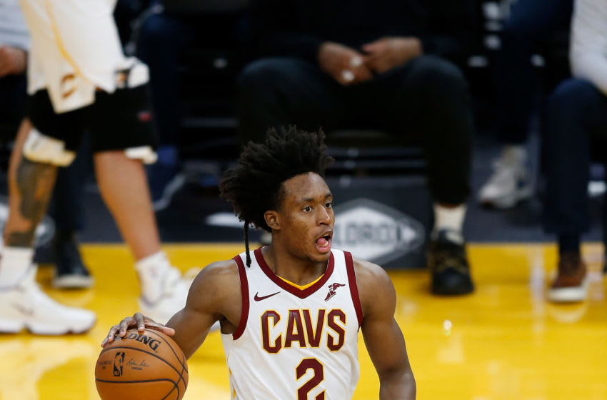 Cleveland Cavaliers guard Collin Sexton handles the ball. (Photo by Lachlan Cunningham/Getty Images)