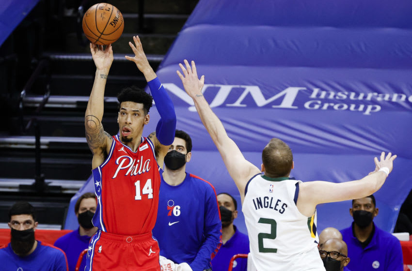 Philadelphia 76ers wing Danny Green shoots the ball. (Photo by Tim Nwachukwu/Getty Images)