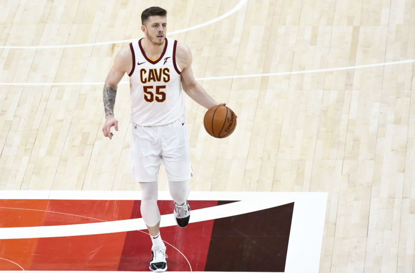 Cleveland Cavaliers big Isaiah Hartenstein handles the ball. (Photo by Alex Goodlett/Getty Images)