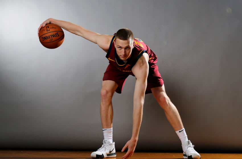 Cleveland Cavaliers guard/forward Dylan Windler poses for a rookie photo. (Photo by Elsa/Getty Images)