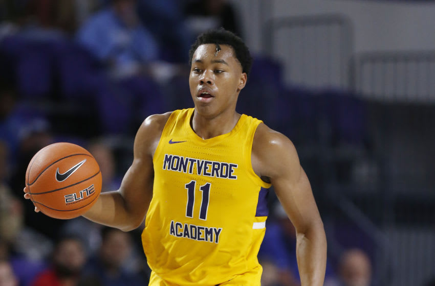 Scottie Barnes #11 of Montverde Academy handles the ball. (Photo by Michael Reaves/Getty Images)