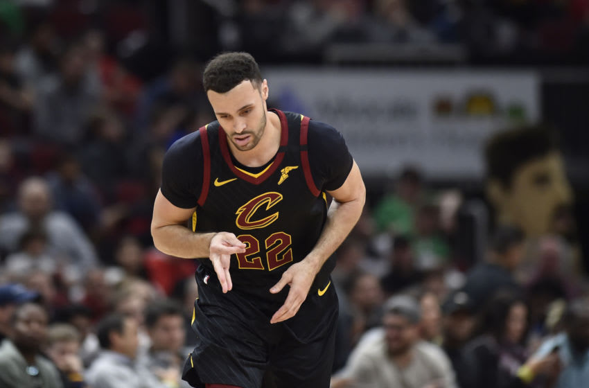 Cleveland Cavaliers big Larry Nance Jr. celebrates in-game. (Photo by Quinn Harris-USA TODAY Sports)