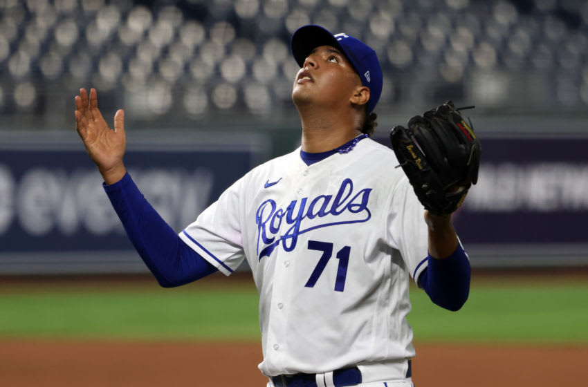 KC Royals, Carlos Hernandez (Photo by Jamie Squire/Getty Images)