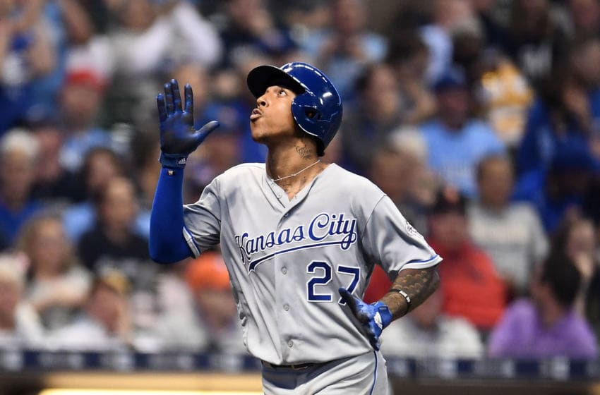 KC Royals, Adalberto Mondesi (Photo by Stacy Revere/Getty Images)