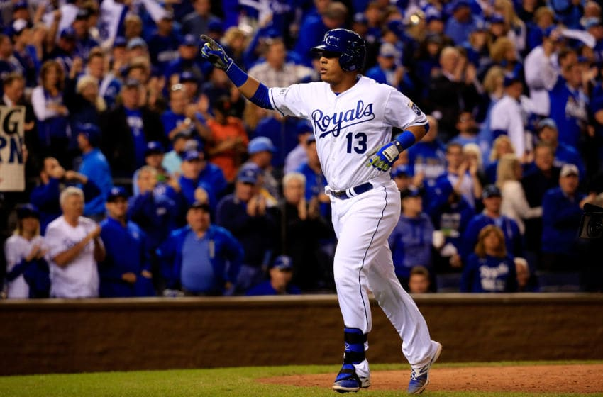 KANSAS CITY, MO - OCTOBER 21: Salvador Perez