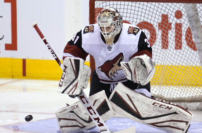 Seattle Kraken, Arizona Coyotes, Adin Hill Mandatory Credit: John E. Sokolowski-USA TODAY Sports