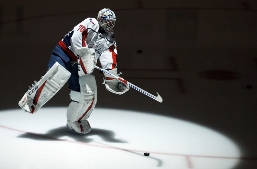 Seattle Kraken, Vancouver Canucks, Washington Capitals, Braden Holtby Mandatory Credit: Charles LeClaire-USA TODAY Sports
