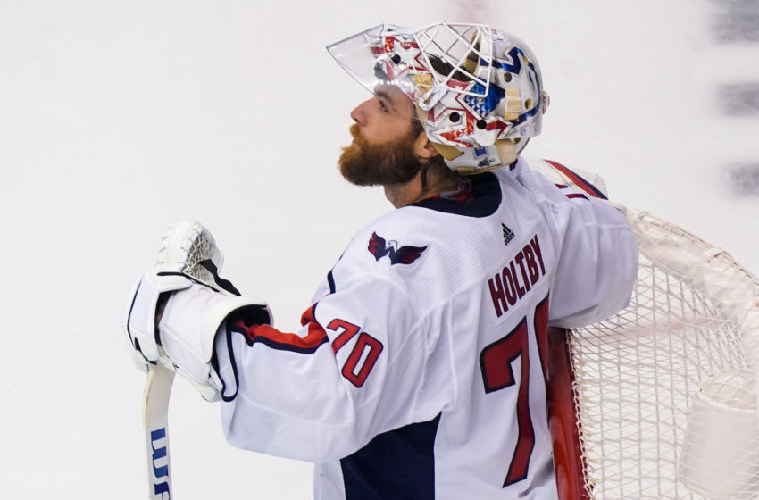 Seattle Kraken, Washington Capitals, Braden Holtby Mandatory Credit: John E. Sokolowski-USA TODAY Sports