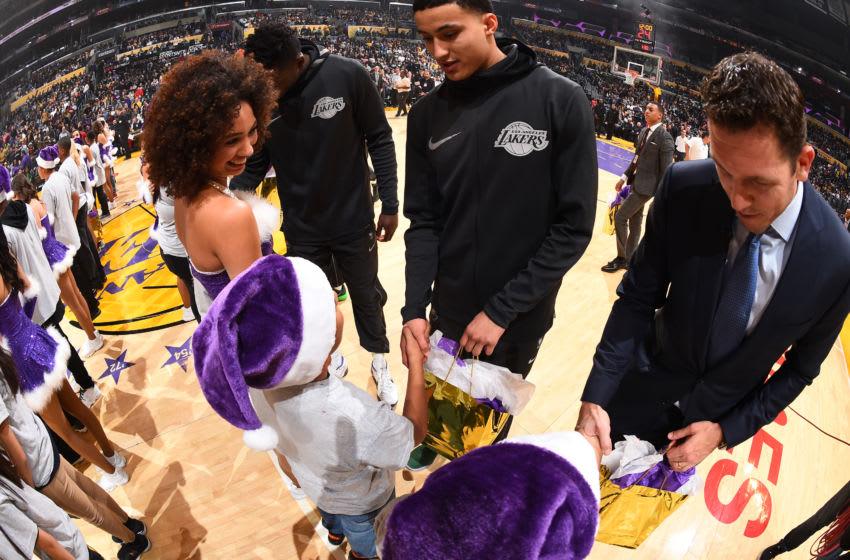 Los Angeles Lakers, Kyle Kuzma, Luke Walton (Photo by Andrew D. Bernstein/NBAE via Getty Images)