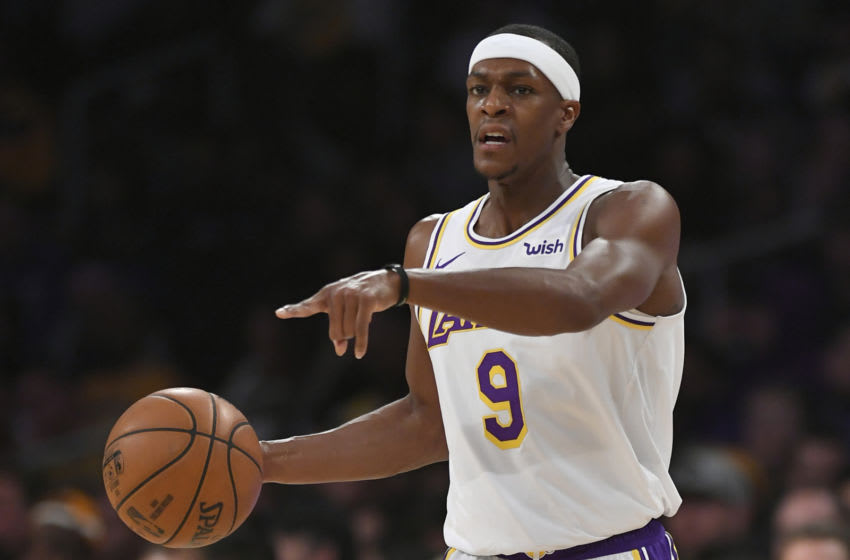 Rajon Rondo #9 of the Los Angeles Lakers (Photo by John McCoy/Getty Images)