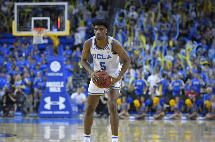 LOS ANGELES, CA - FEBRUARY 27: Chris Smith #5 of the UCLA Bruins while playing the Arizona State Sun Devils at Pauley Pavilion on February 27, 2020 in Los Angeles, California. UCLA won 75-72. (Photo by John McCoy/Getty Images)